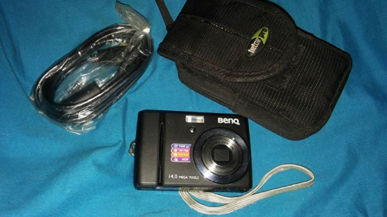 Camera with bag and cable
