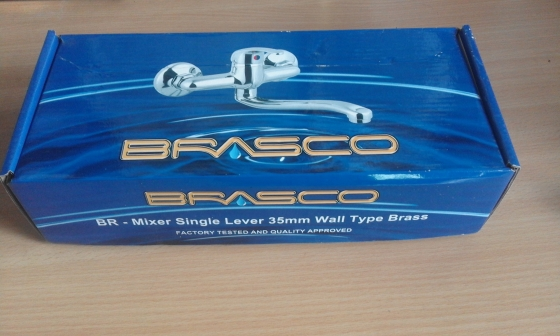 Mixer (Tap) Single Lever 35mm Wall Type Brass. Brand new in a Box.