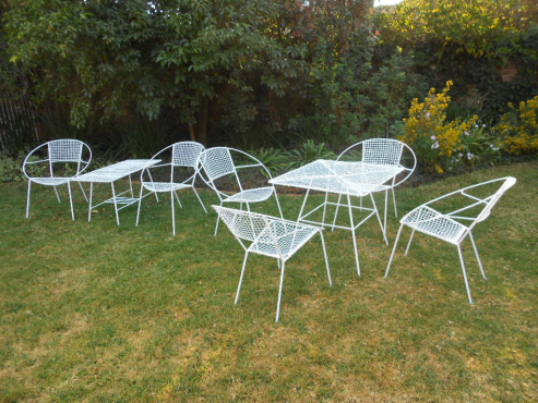 Wire Mesh Garden Table And Chairs