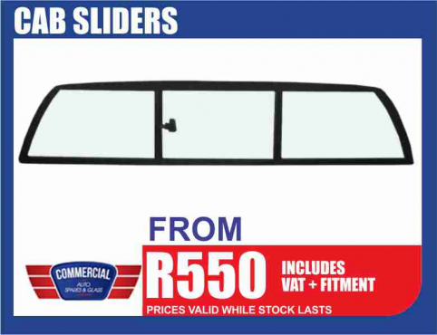 Cab Sliders on Special at Commercial Auto Spares & Glass!