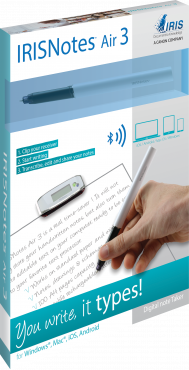 IRISNotes™ Air 3  Captures Handwritten Notes & Graphs Converts Notes into Editable Text Bluetooth Wi