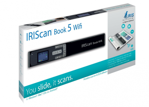 IRIScan™ Book 5 Wifi  Portable Scanner that allows you to scan magazines pages,books pages or letter