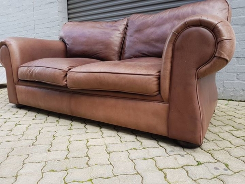 Van Den Bergh Quality Real 100 Kudu Leather Sofa