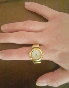 Horlosie ring/Watch ring