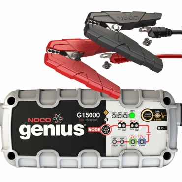 NOCO Genius G15000 12V/24V 15A Pro Series UltraSafe Smart Battery Charger- Maiden Electronics