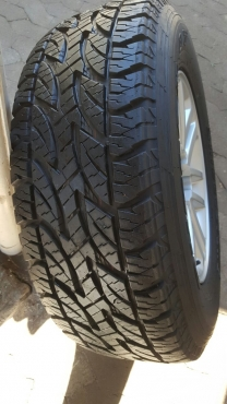 Toyota Fortuner or Hilux 17 inch Spare Mag with 95% tread Bridgestone Dueler All Terrain Tyre
