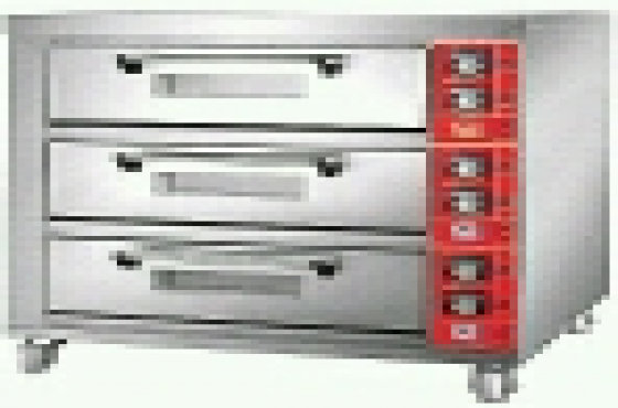 BRAND NEW 3 DECK 6 TRAY ELECTRIC OVENS WITH TRAYS