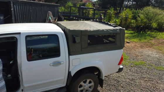 Nissan Nivara double cab Canvas canopy - grey