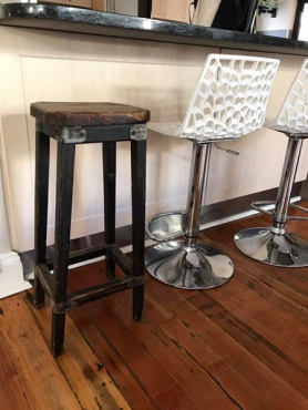 Old wooden bar stool