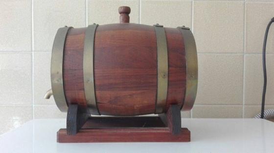 Originally carved Simonsvlei mini wine barrel