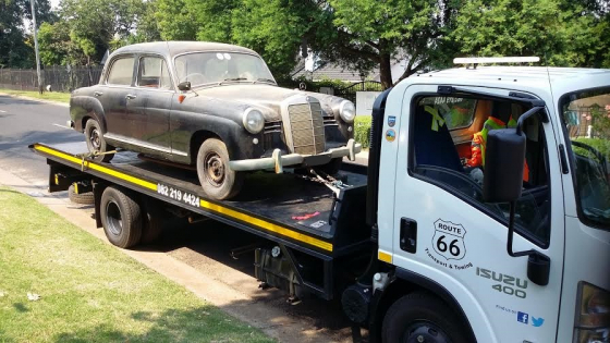 Classic Car Transport Gauteng to George.