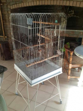 Birdcage on wheels
