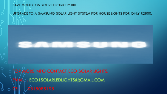 Samsung solar light system for house lights.