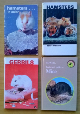 Hamste, gerbils and mice books. R50 for all for books.