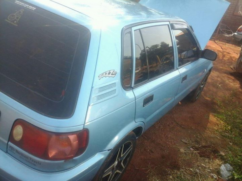 Blue Toyota Tazz 1.3