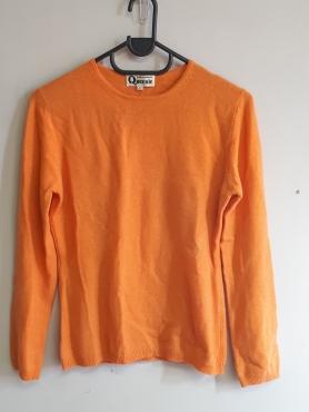 Cashmere Orange Pullover Crew Neck