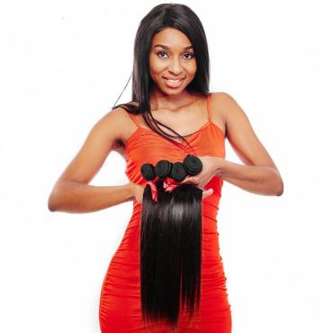 Human hair 100% Peruvian Hair Weave Bundles straight Hair Weft