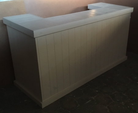 Bar Counter Farmhouse series 2000 - Stained Antique white