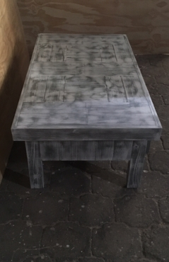 Coffee table Farmhouse series 1400 with drawers Glazed