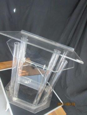 Tube shape podium