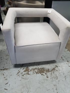 grey material couch
