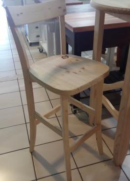 Pine Cafe Bar Chair