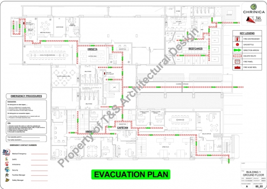 RETAIL, BUSINESS, COMMERCIAL & INDUSTRIAL FIRE EVACUATION DESIGN PLANS DRAUGHTING