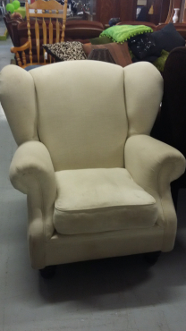 Cream Cori Craft Wing back chairs
