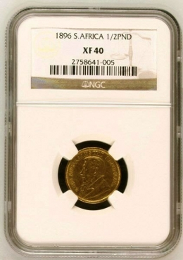 Current value: R25000 1896 Graded Half Pond XF40