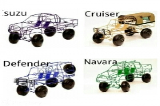 wire cars with steering