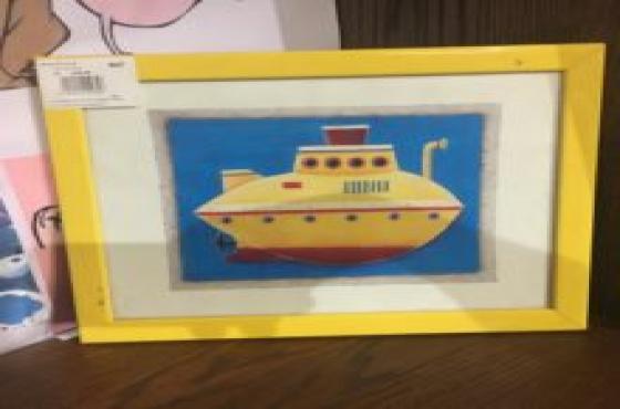 3x framed ship pictu
