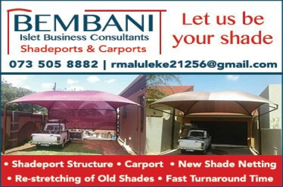 Bembani Shadeport, Carports