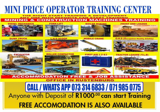 madibogo 777 dump truck LHD scoop Drill rig training Boilermaking course 0733146833