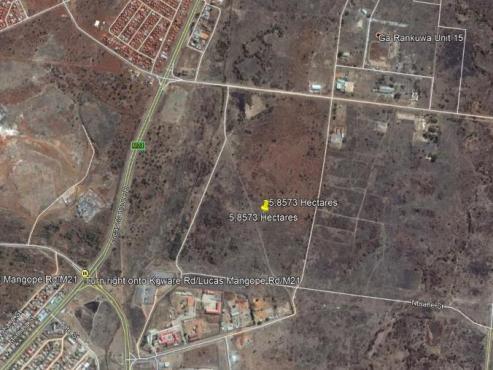 DEVELOPMENT LAND IN GA-RANKUWA FOR THE DEVELOPER