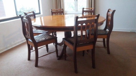 Yellowwood in dining room furniture in south africa junk for Dining room tables south africa