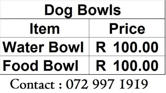 Dog Bowls - Steel