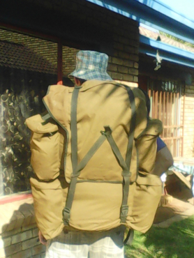 2 Hiking bags - old army kit.