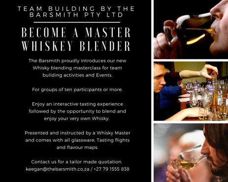 TEAM BUILDING - BLEND YOUR OWN WHISKY BY THE BARSMITH 0791555838