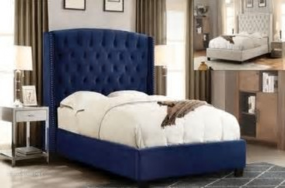 Farrah Sleigh Bed from Chivalry Designs for R5000