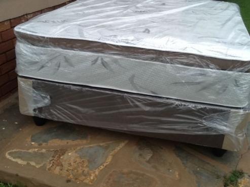 New Queen Restonic Pillowtop Base and Mattress Set