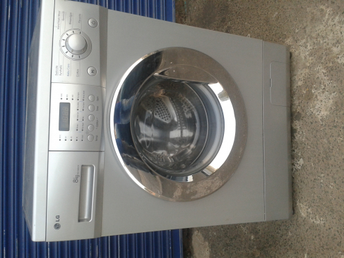 Lg 8kg front load washing machine silver