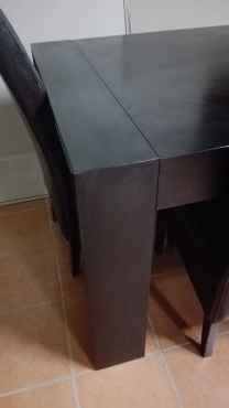 Coricraft Dining Table and 6 Leather Chairs