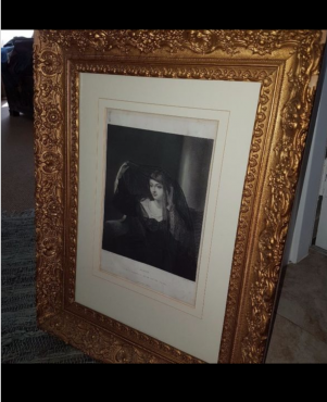 Antique framed etchings