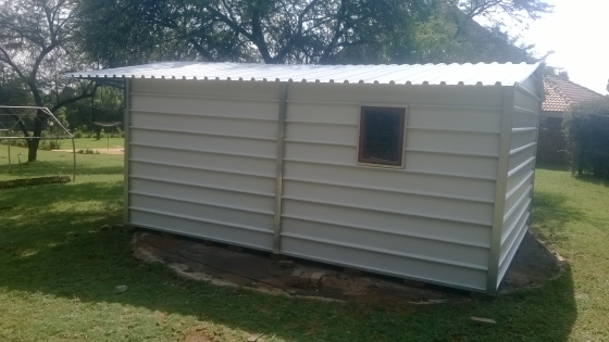Storage: Strong steel shed in your own yard.