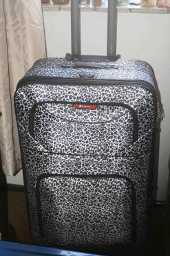 Travel Suitcase Silk Leopard Skin (Brand New)