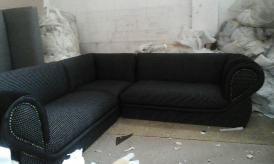 new grey corner lounge suite