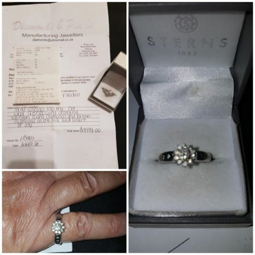 9ct forever White gold engagement ring