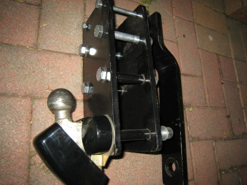Front Push bar and tow bar with metal cover for tow ball - for sale
