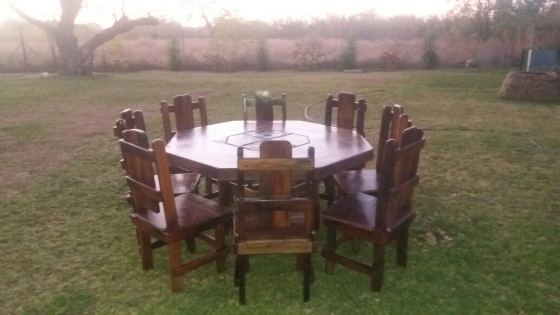 R 12 500 For Sale 8 Seater Sleeper Wood Dining Room Table