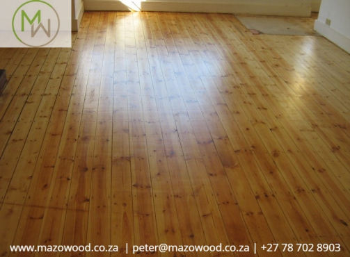 Parquet Oregon Pine Rhodesian Teak Wooden Flooring Sanding